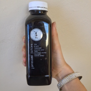 Food trends: Charcoal infused juice.